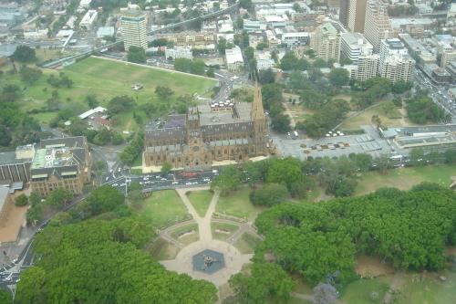 シドニータワーからの眺め セント メアリ大聖堂