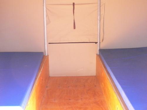 テントのベッド
