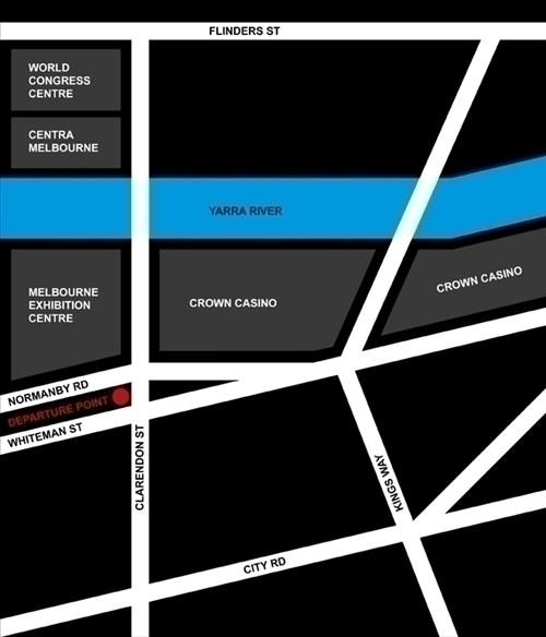 乗車場所の地図