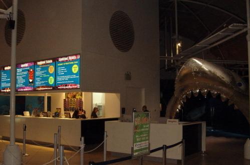 サメの入り口がカッコ良いシー・ライフ(水族館)