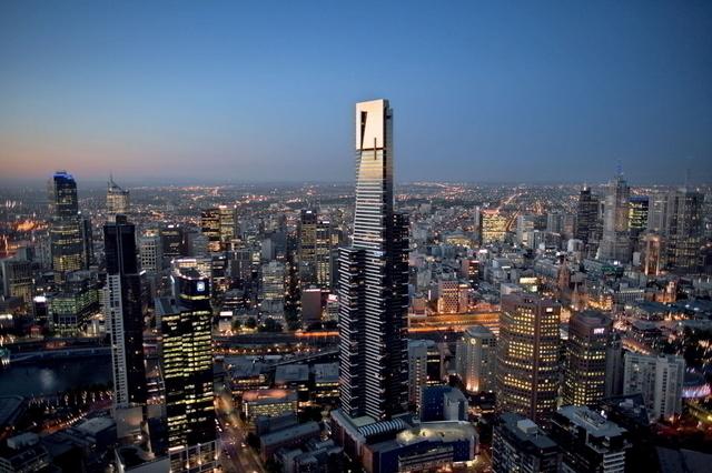 メルボルン市内を一望することができるユーリカタワー