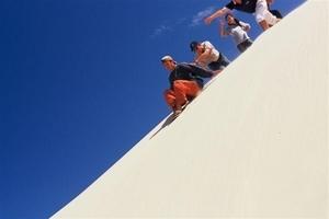 砂滑りができる大砂丘