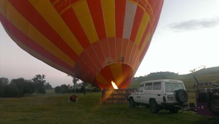 気球が立ち上がって来ました!