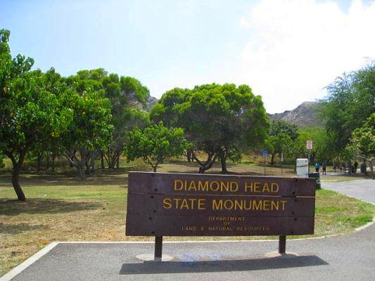 ダイアモンドヘッド登山口