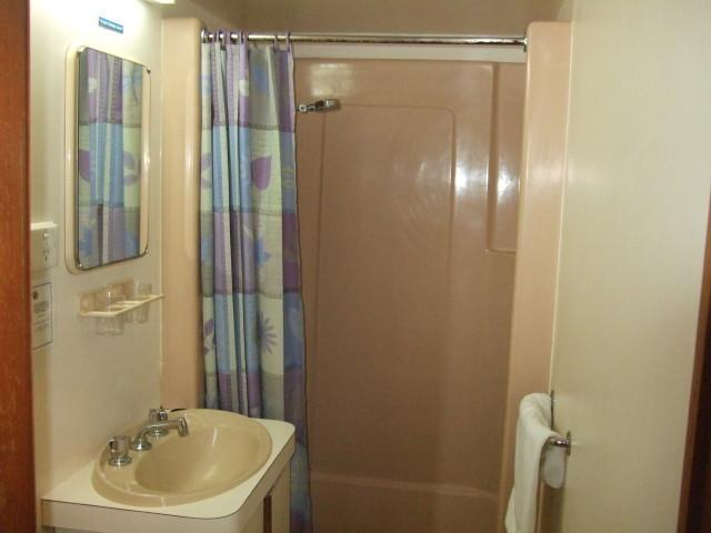 客室内のシャワー、洗面所