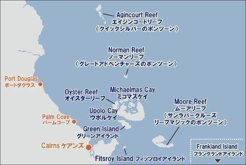 グリーン島の場所を示す地図