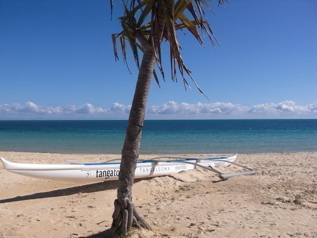 リゾートエリアの美しいプライベートビーチ