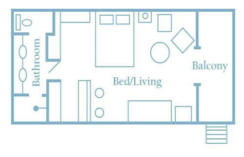 パームバンガローのお部屋間取り図例
