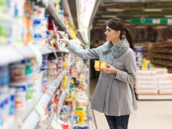 スーパーマーケットでお買い物