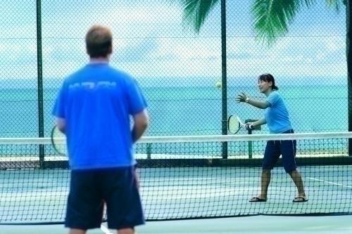 リゾート内にあるテニスコート