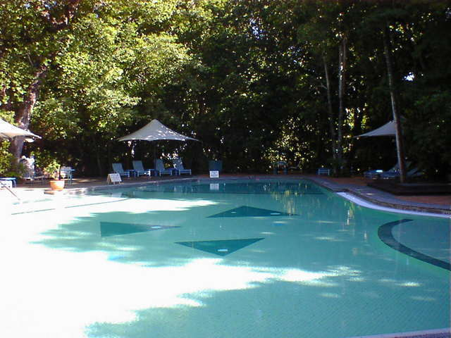 グリーン島内のプール