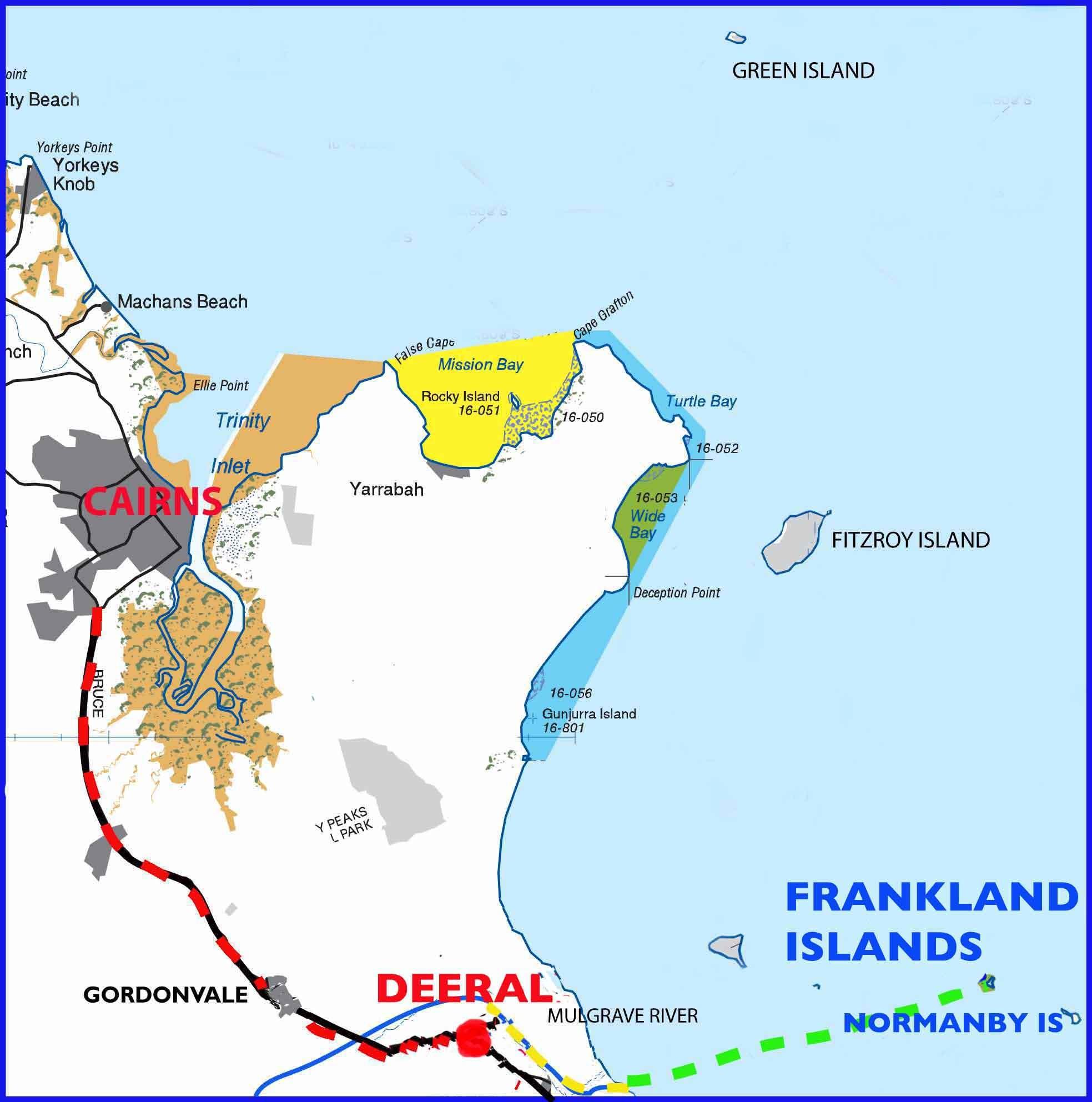 フランクランド島の場所を示す地図