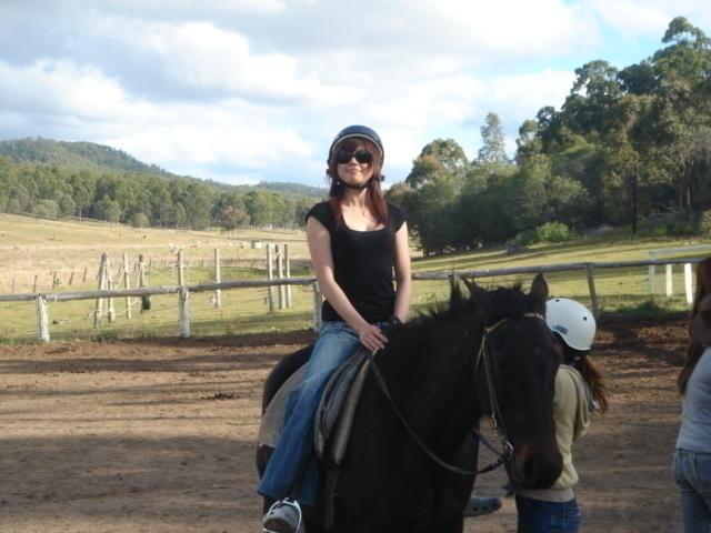 お気に入りの馬と一緒に出発だ