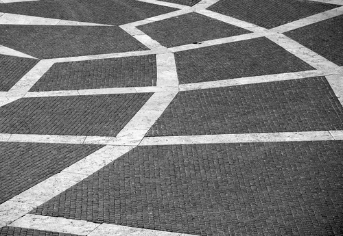 カンピドーリオ広場の幾何学模様の地面
