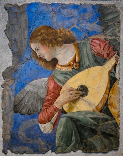 メロッツォ・ダ・フォルリの「リュートを引く天使」