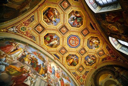 ヴァチカン美術館の天井絵