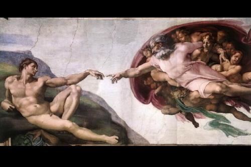 システィーナ礼拝堂の「アダムの創造」