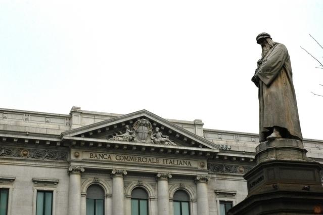 スカラ広場  レオナルド・ダ・ヴィンチ像