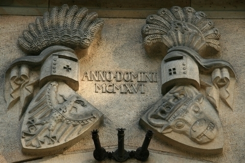 ツィツェリエンホーフ宮殿にある紋章