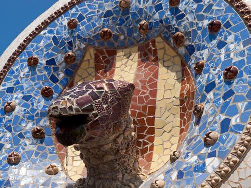 グエル公園の彫刻