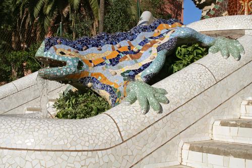 グエル公園名物のトカゲ