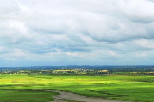モンサンミッシェルからの眺め