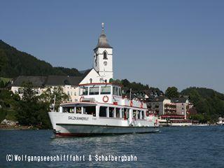 遊覧船から見る「ザンクト・ヴォルフガング」