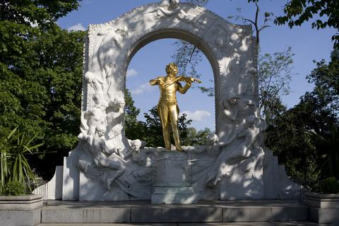 市立公園ヨハンシュトラウス像
