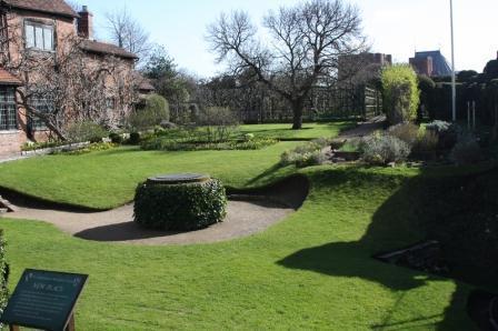シェイクスピアの生家の庭