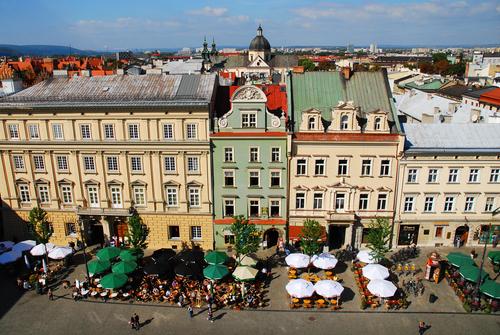 クラクフ 旧市街の街並み