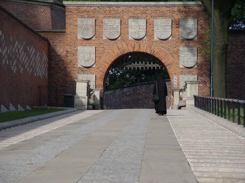 クラクフ ヴァヴェル城の城門