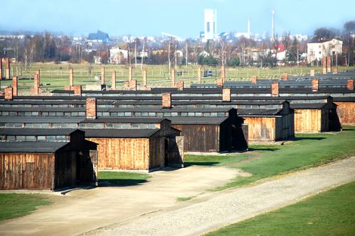 アウシュビッツ強制収容所のバラック