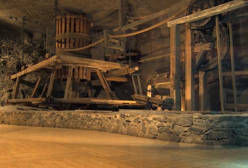 ヴィエリチカの岩塩採掘の器具