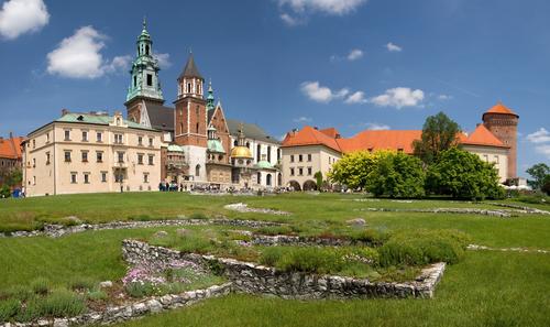 クラクフ ヴァヴェル城の全景