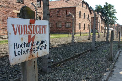 アウシュビッツ強制収容所の建物