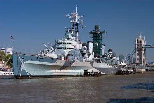 旧英国軍艦HMSベルファスト号