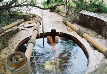 日本の温泉をお手本に作られています