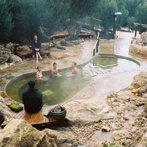 森の中の露天風呂