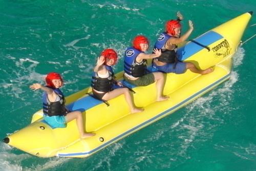 大興奮のバナナボート