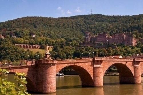 ハイデルベルク城へかかる橋