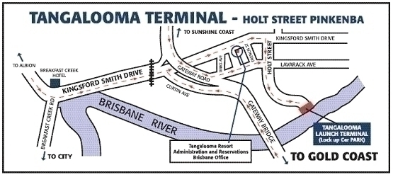 タンガルーマ・フェリー乗り場地図(holt street terminal)