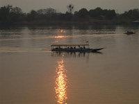 メコン川の夕焼け