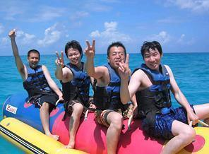バナナボートは21世紀のマリンスポーツの定番です。