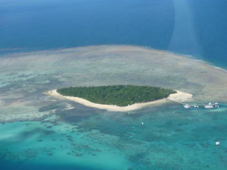 空から見たグリーン島です